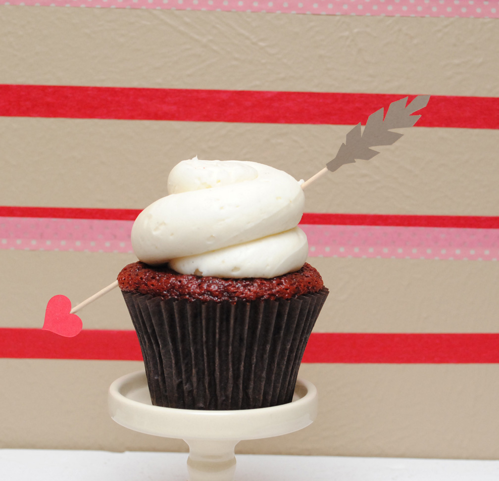 Valentine's Day Cupid's Arrow Cupcake Toppers on Luulla